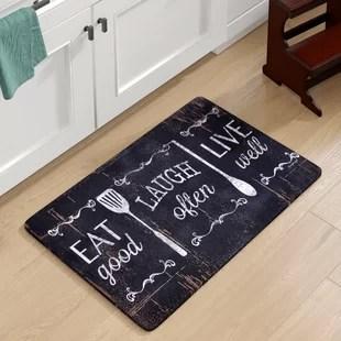 kitchen floor mats outdoor supplies you ll love wayfair chilton oversized eat laugh live mat