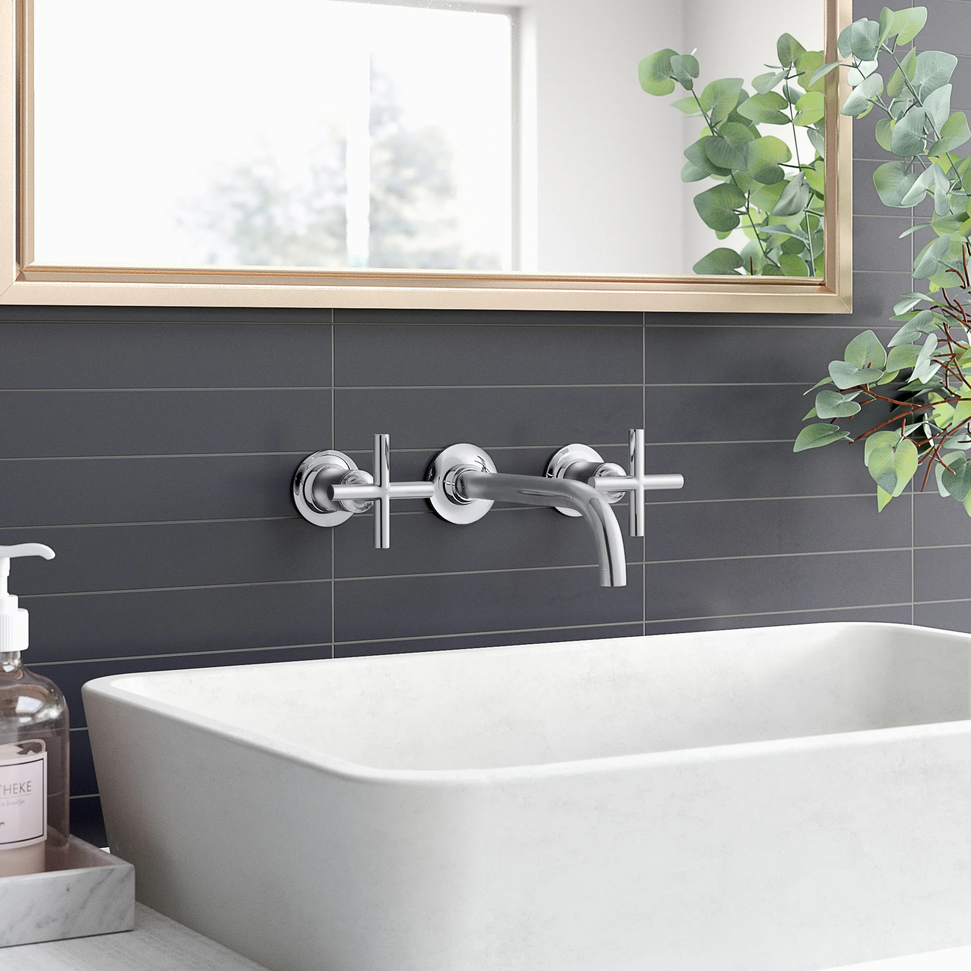 purist wall mounted bathroom faucet