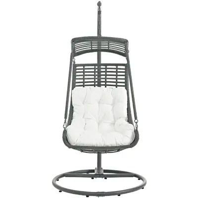 hanging chair lahore bedroom wicker baner garden swing with stand wayfair jungle