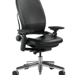Black Leather Desk Chairs Egg Chair Stand Only Steelcase Leap High Back Wayfair