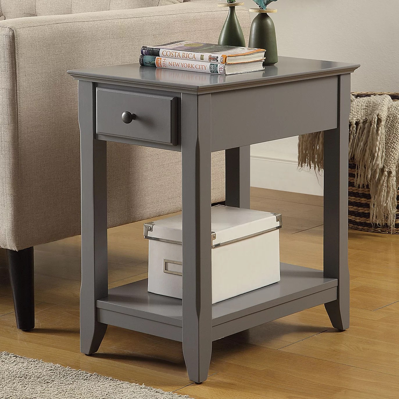 Grey End Side Tables You Ll Love In 2020 Wayfair