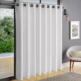 heil patio solid color room darkening grommet single curtain panel