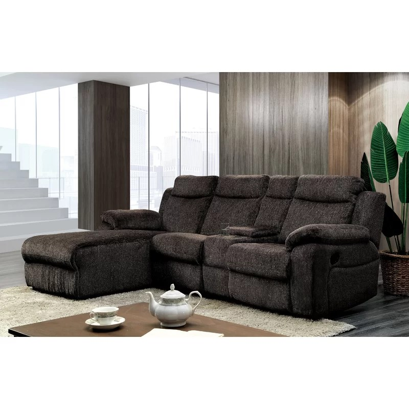 burnam left hand facing reclining sectional