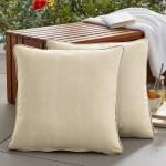 Charlton Home Negrete Textured Indoor Outdoor Throw Pillow Reviews Wayfair