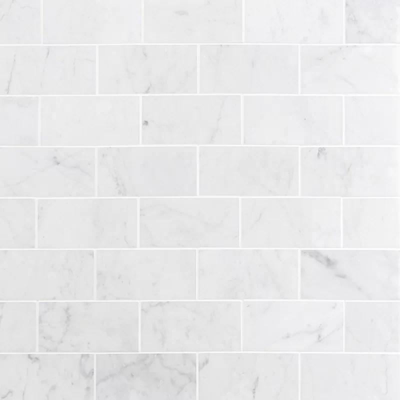 carrara 3 x 6 marble subway tile