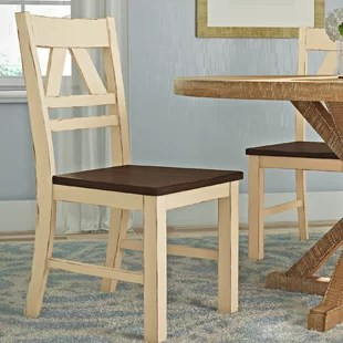 kitchen chairs wood big lots beach dark wayfair fred solid dining chair set of 2