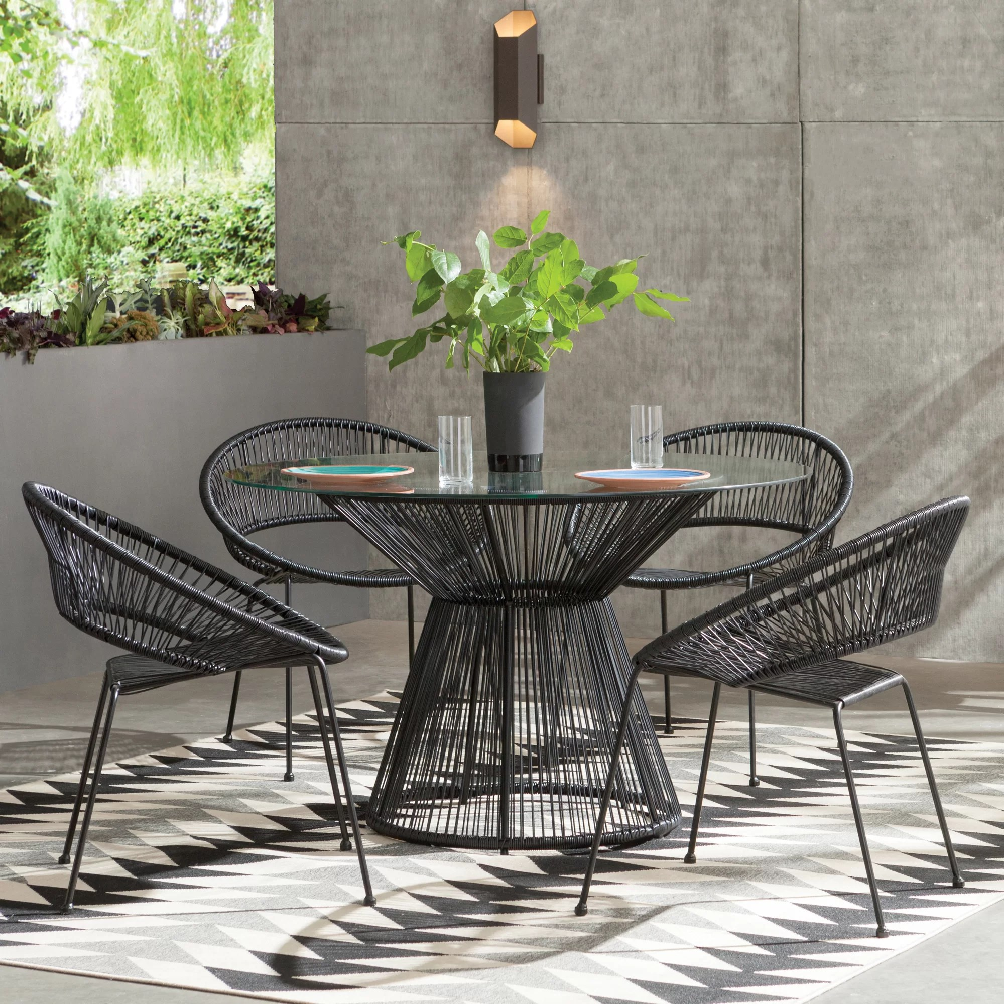 Patio Furniture Table And Chairs Modern Outdoor Dining Furniture Allmodern