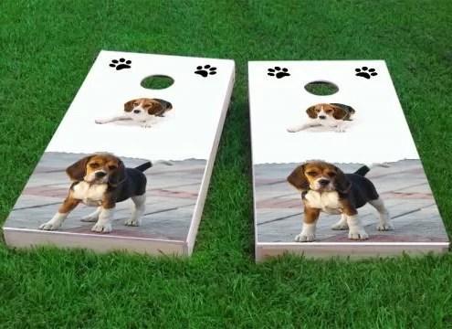 Beagle Lovers Cornhole Game Size: 48 H x 24 W Bag Fill: Whole Kernel Corn