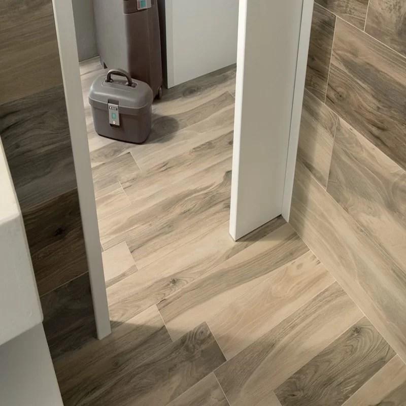 abete 10 x 40 porcelain wood look tile in brown