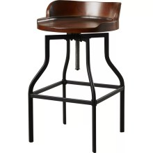Essonnes Adjustable Height Swivel Bar Stool