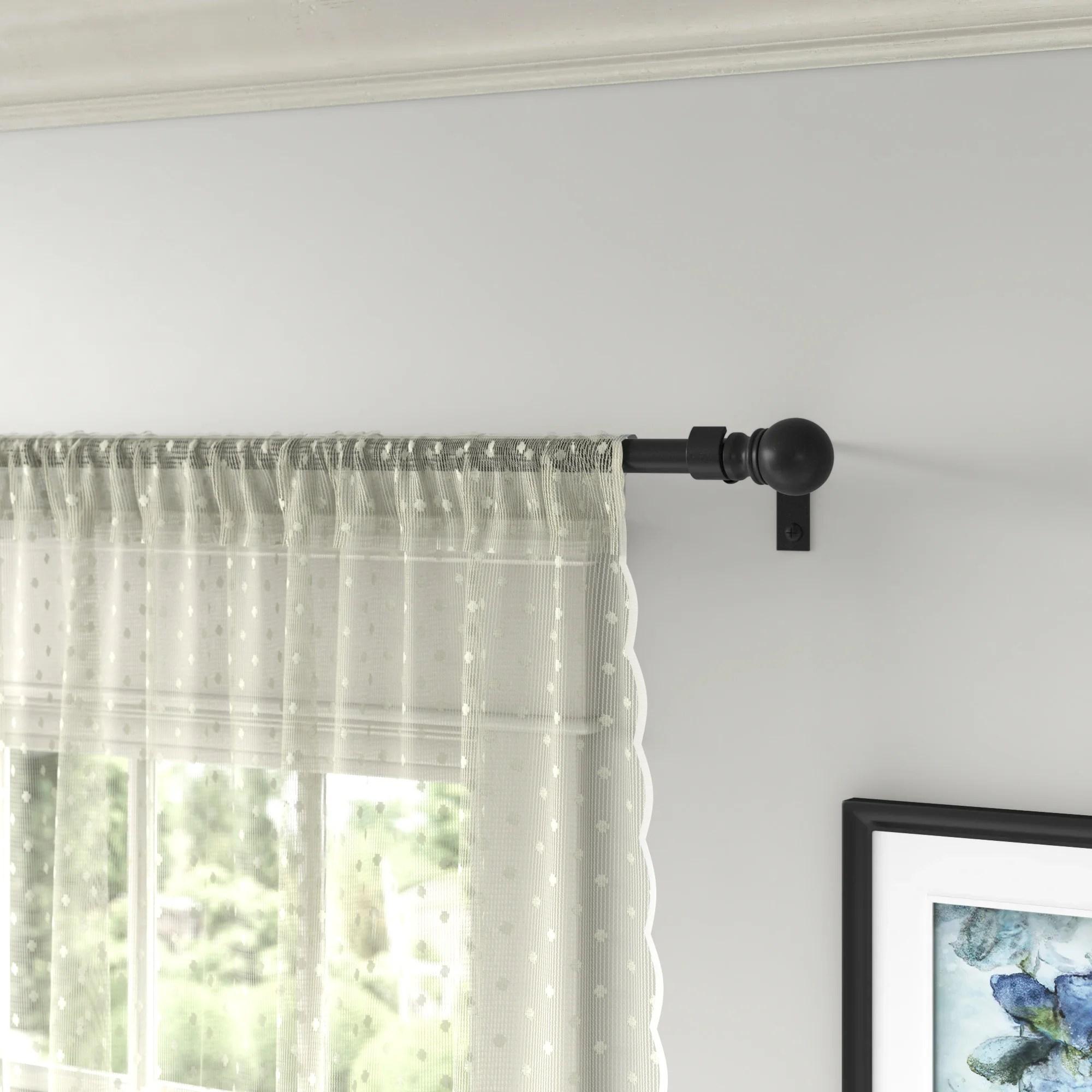 ceiling mount rod curtain hardware