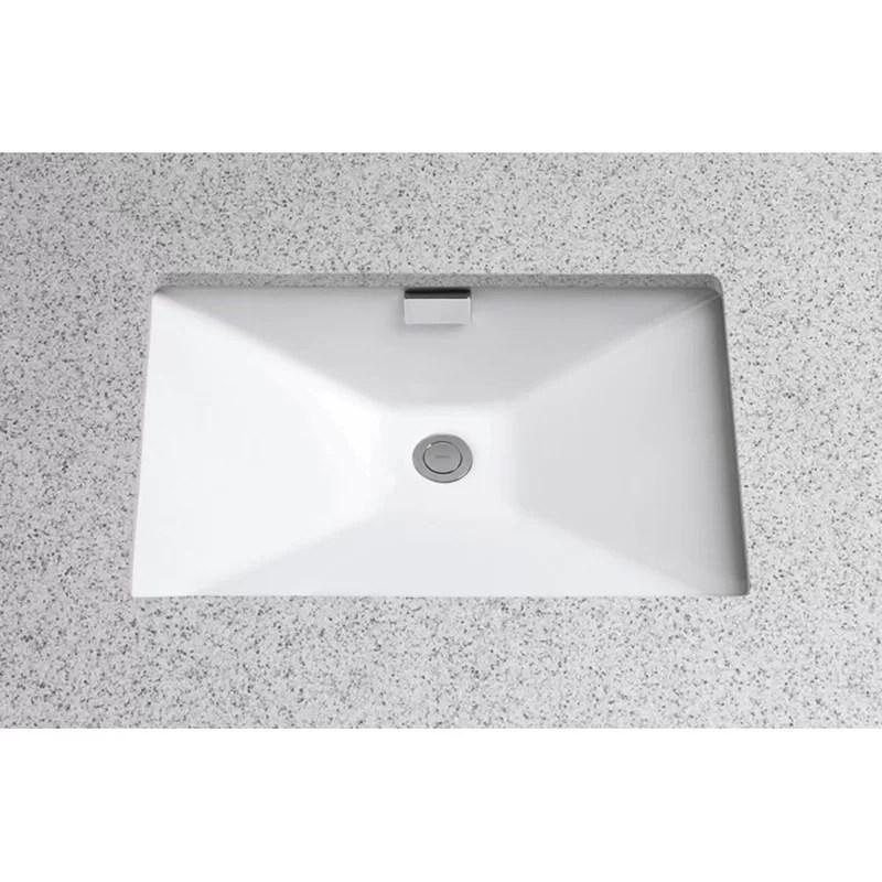 lloyd vitreous china rectangular undermount bathroom sink with overflow