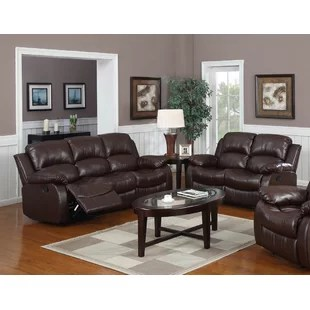 2 piece brown leather sofa bean bag amazon living room sets you ll love wayfair quickview