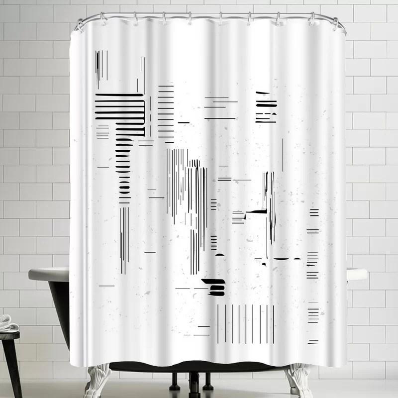 ikonolexi modern minimalist single shower curtain