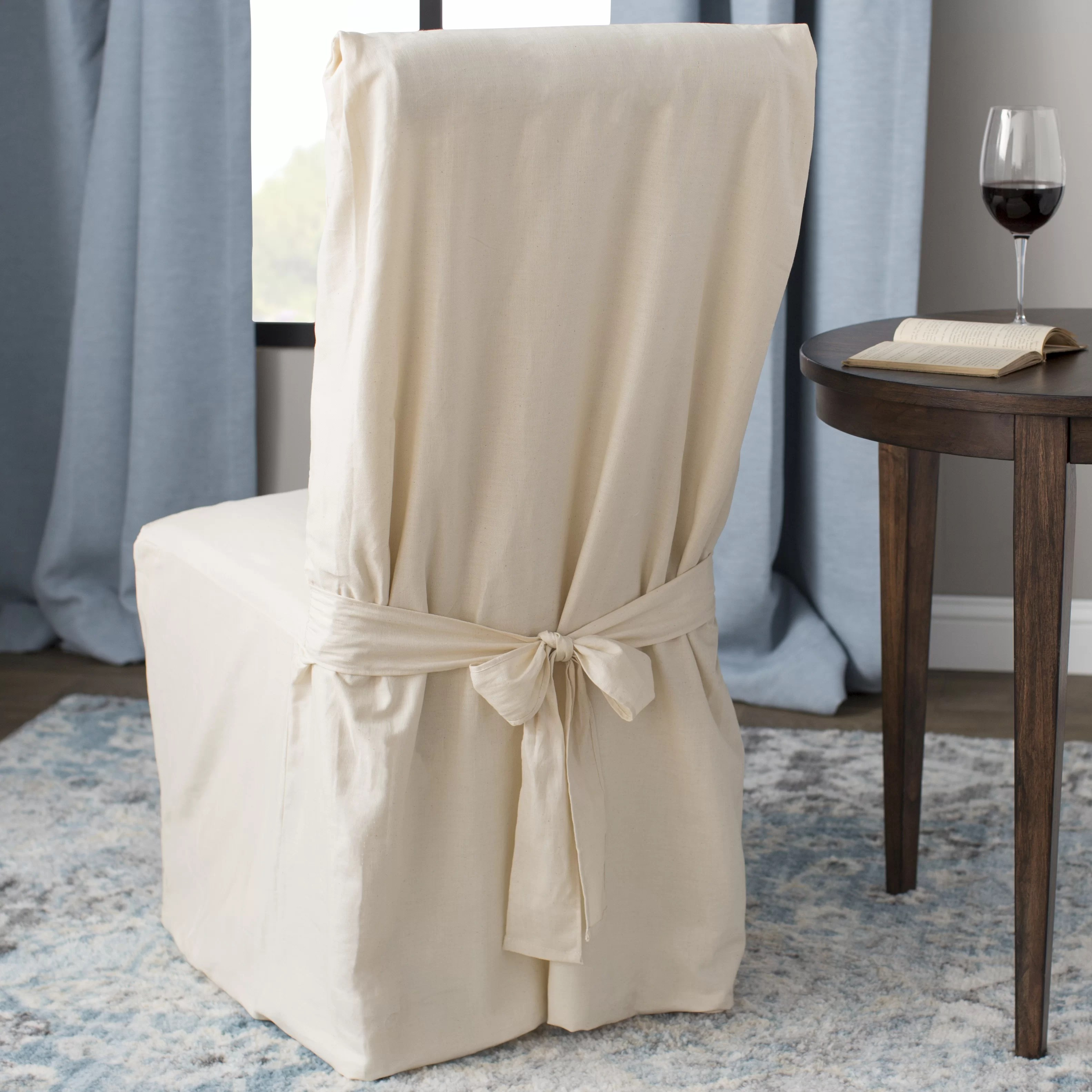 Dining Chair Slipcover Sure Fit Cotton Duck Box Cushion Dining Chair Slipcover
