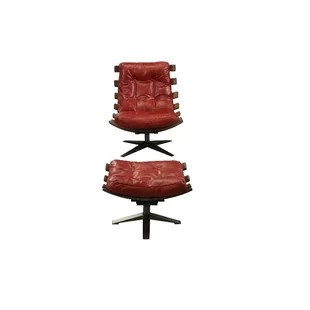 red leather chair and ottoman office chairs at costco included you ll love wayfair quickview