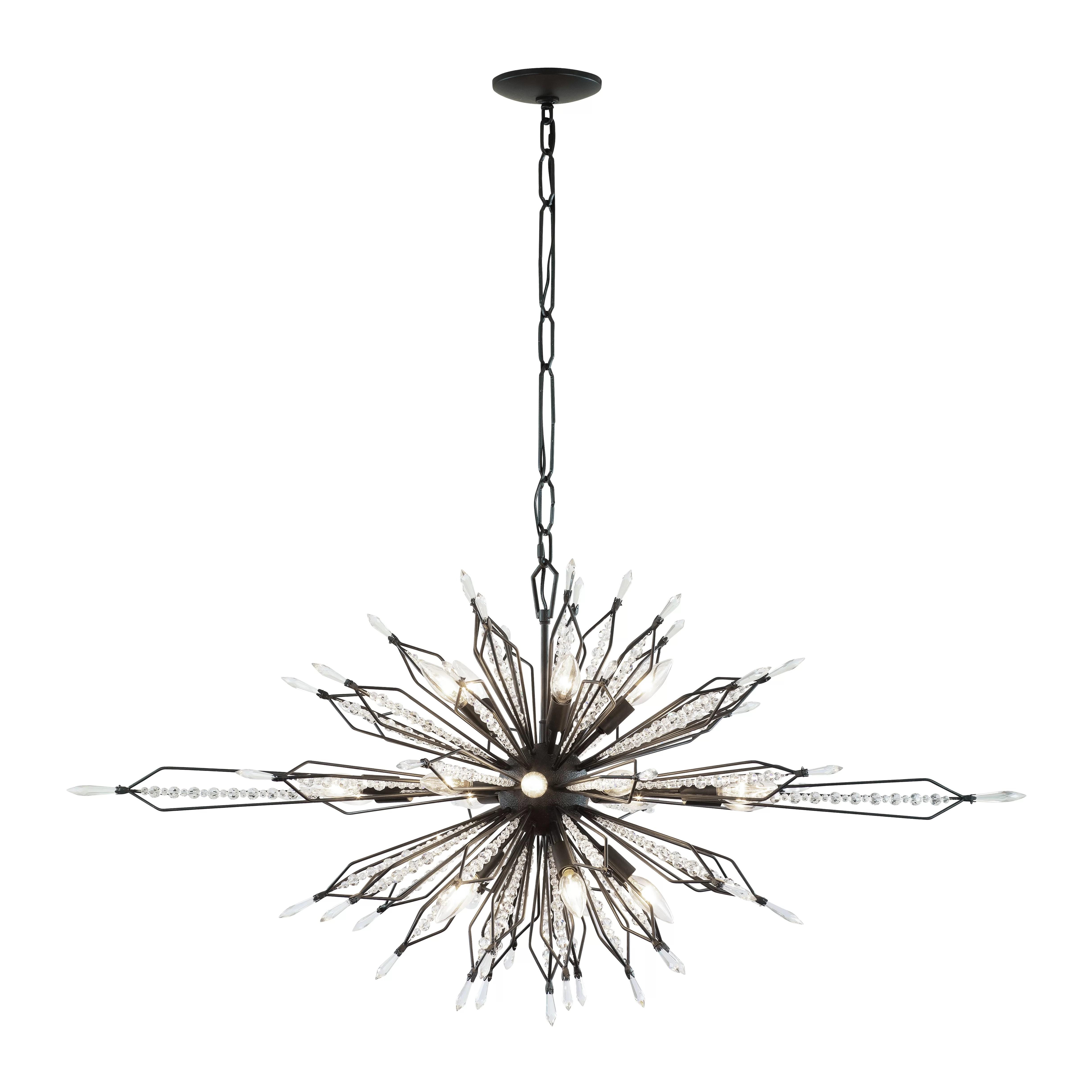 House Of Hampton Rasco Oval Linear 16 Light Sputnik
