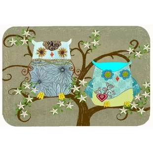 owl kitchen rugs zephyr hood rug wayfair the friendly ladies bath mat