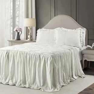 ornelas pintuck ruffle skirt bedspread set