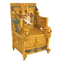 Throne Chair Cover Henriksdal Etsy King Wayfair Tut S Golden Treasure Box