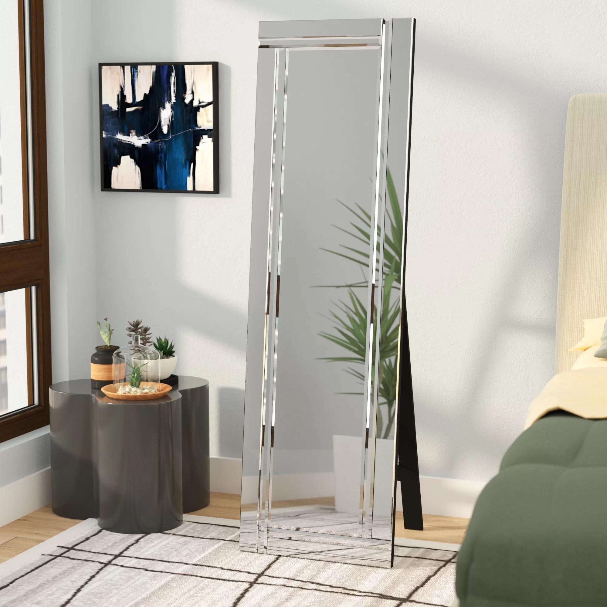 full length mirror in living room arabian themed wade logan reviews wayfair