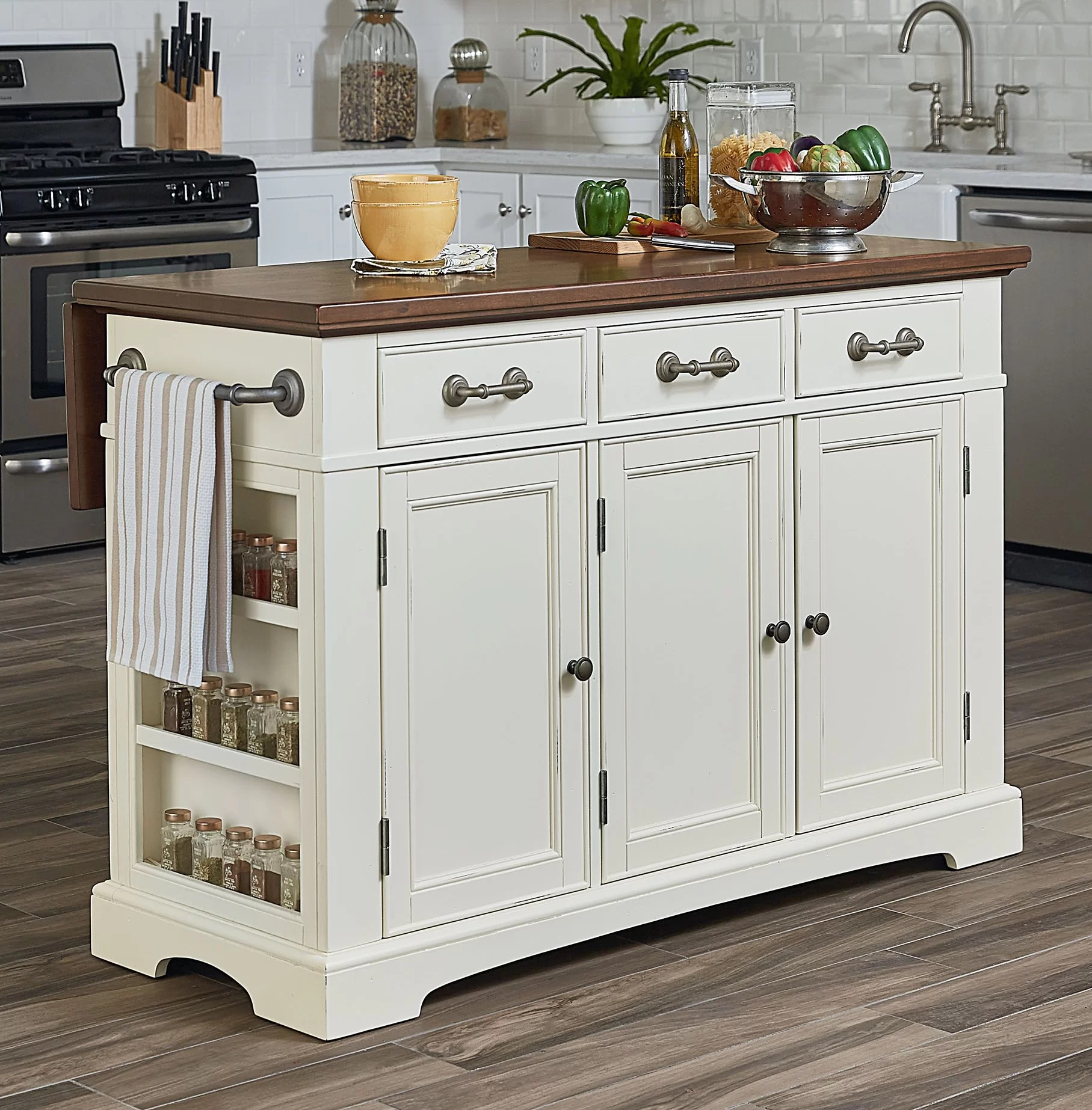 large kitchen island bargain outlet cabinets darby home co maile reviews wayfair