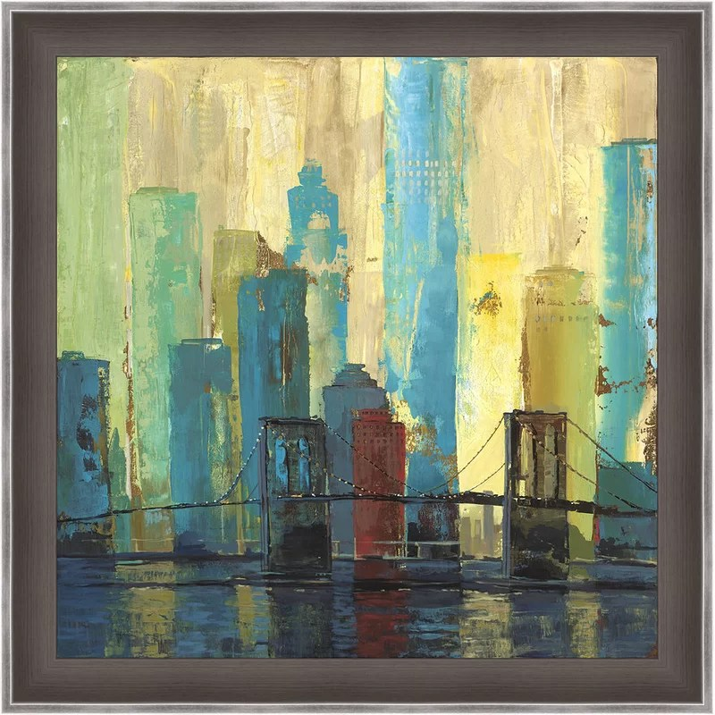 Trends City Connection II Framed Painting Print