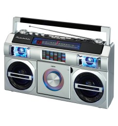 studebaker retro old school portable boombox with bluetooth cd and fm analog radio reviews wayfair [ 2500 x 2500 Pixel ]
