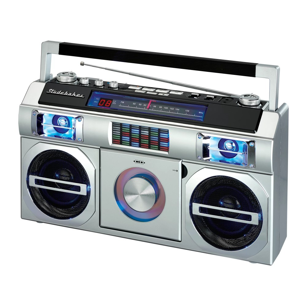 medium resolution of studebaker retro old school portable boombox with bluetooth cd and fm analog radio reviews wayfair
