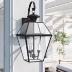 Three Posts Bevin 3 Bulb 22 5 H Outdoor Wall Lantern Reviews Wayfair