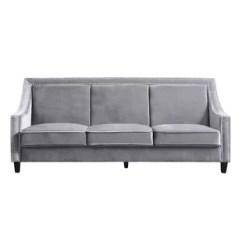 Leather Sleeper Sofa With Nailheads Full Nailhead Trim Wayfair Trista Wood Legs Couch