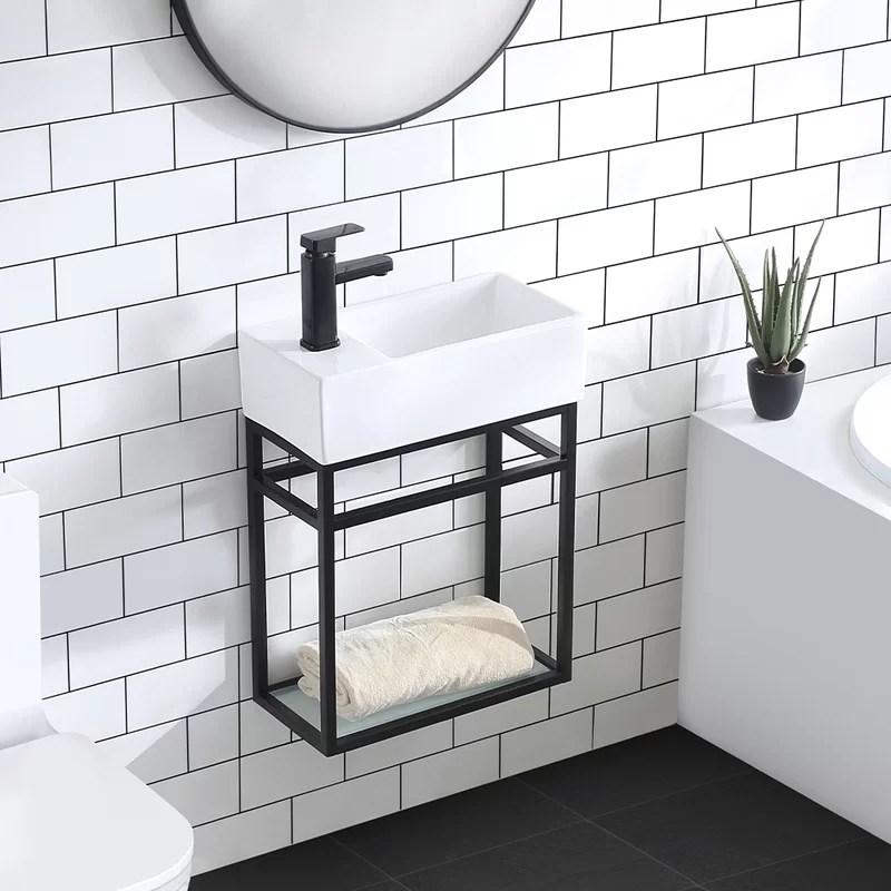 Swiss Madison Pierre 19 5 Single Metal Frame Open Shelf Bathroom Vanity Wayfair