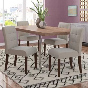 set of chairs high chair kmart 4 kitchen dining you ll love wayfair isidora upholstered