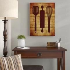 Kitchen Wall Art 4 Seat Island Wayfair Utensils Graphic On Wrapped Canvas