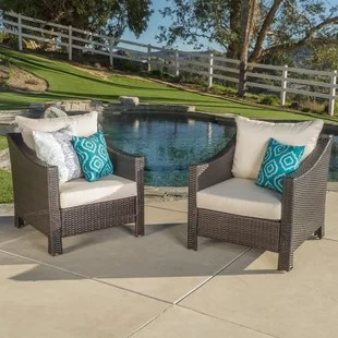 wicker patio chair set of 2 glider rocker covers chairs wayfair quickview