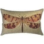 August Grove Naswith Dragonfly Linen Lumbar Pillow Reviews Wayfair