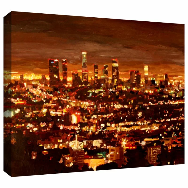 City of Angels by Martina and Markus Bleichner Painting Print on Wrapped Canvas Size: 24 H x 36 W