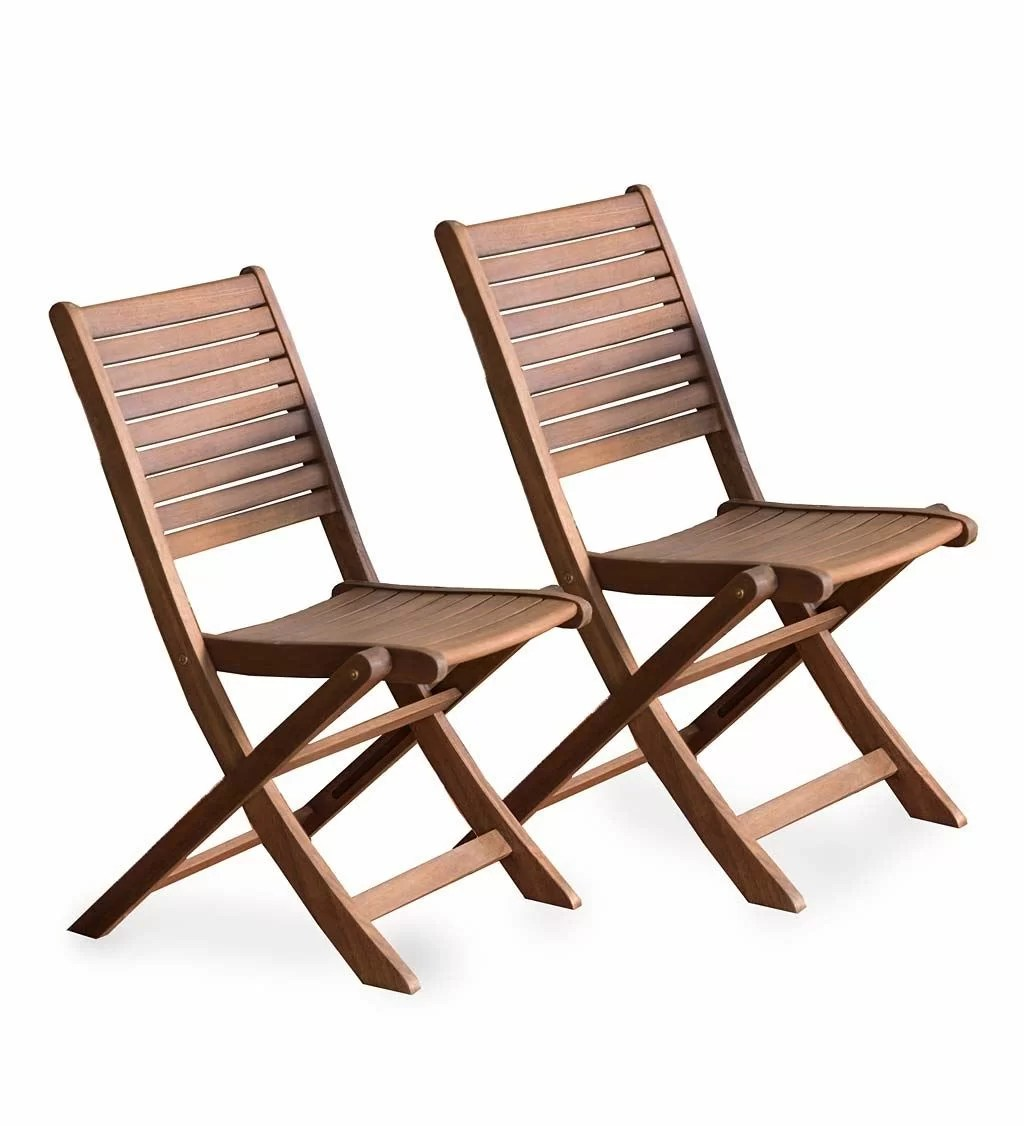 Patio Folding Chairs Eucalyptus Bistro Folding Patio Dining Chair