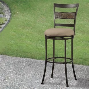 chair and matching stool hanging tree swing bar stools chairs wayfair hoytville 26 swivel indoor outdoor patio