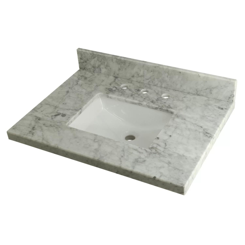 templeton carrara marble 30 single bathroom vanity top