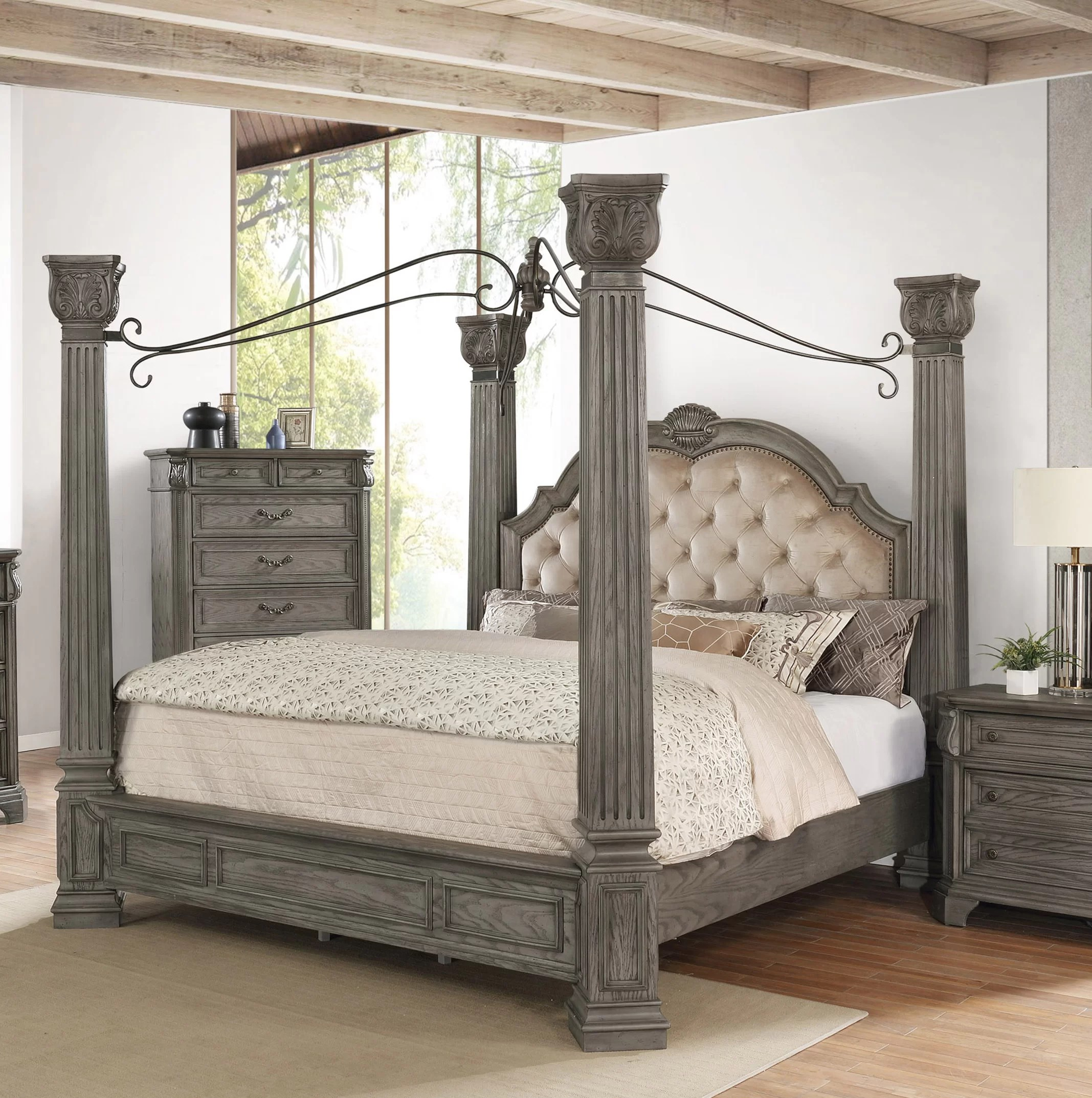 grand isle queen canopy bed