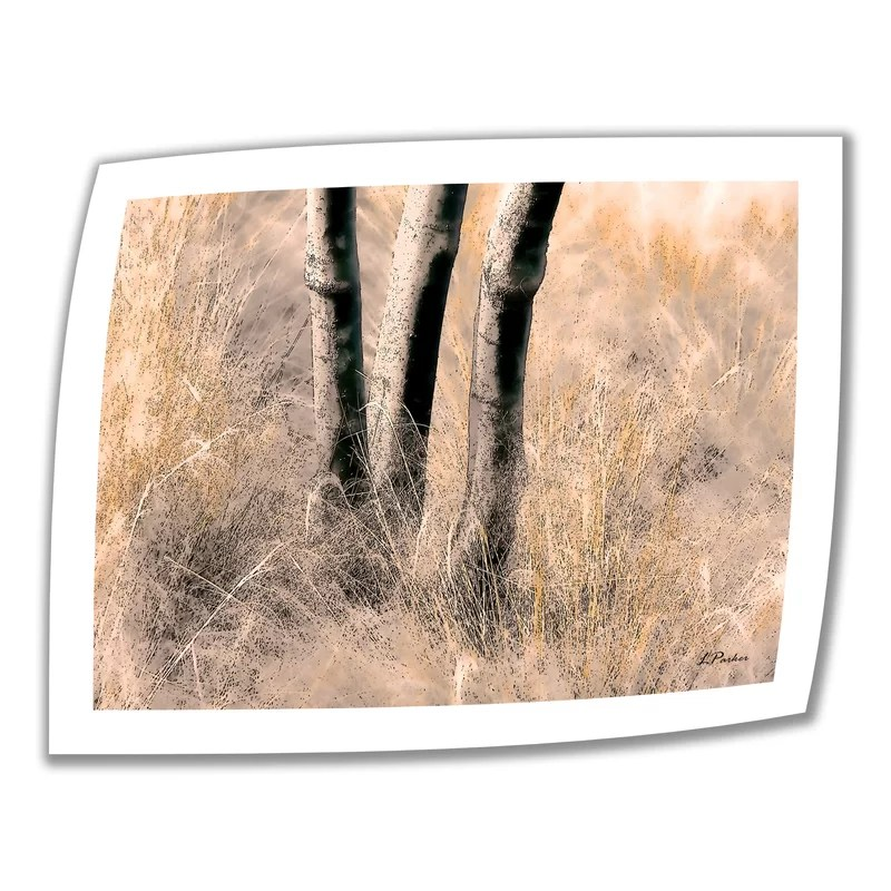 Desert Grasses II by Linda Parker Graphic Art on Rolled Canvas Size: 18 H x 22 W
