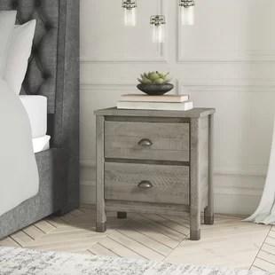 travis 2 drawer nightstand