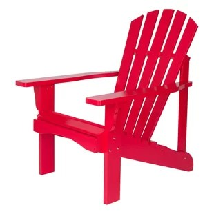 red adirondack chairs wheelchair project you ll love wayfair quickview