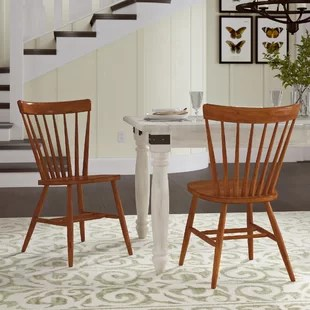 farmhouse dining room chairs spandex chair covers wholesale suppliers benches birch lane marni solid wood set of 2