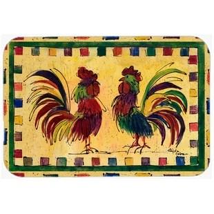 rooster kitchen rug aid mixer bowls rugs wayfair bird bath mat