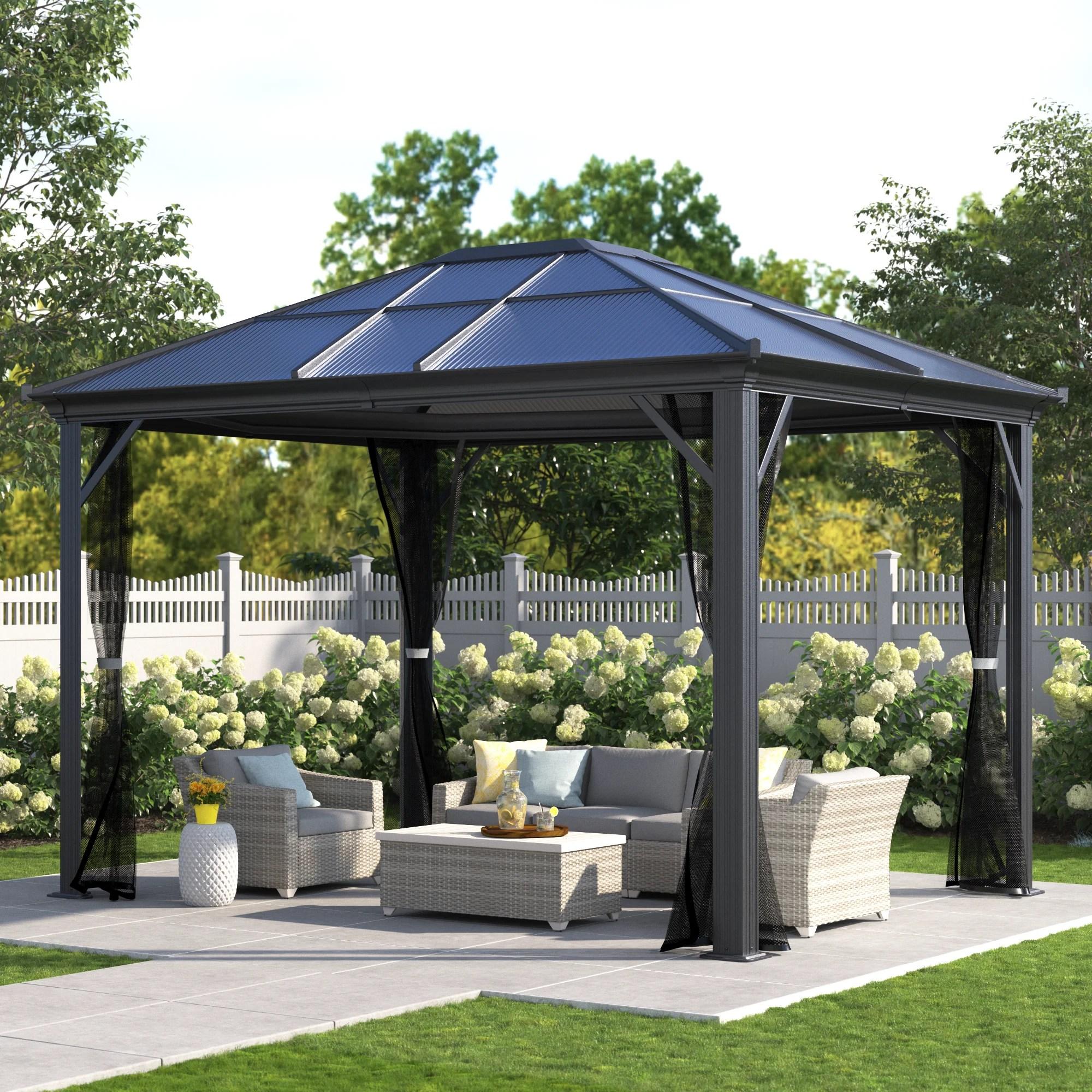 wilmslow aluminum patio gazebo