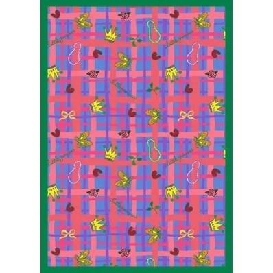 Pink/Blue Area Rug Rug Size: 78 x 109