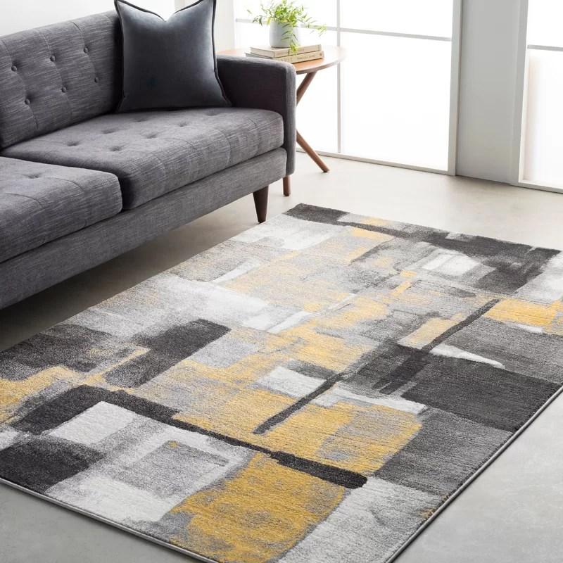 tapis jaune gris devaney
