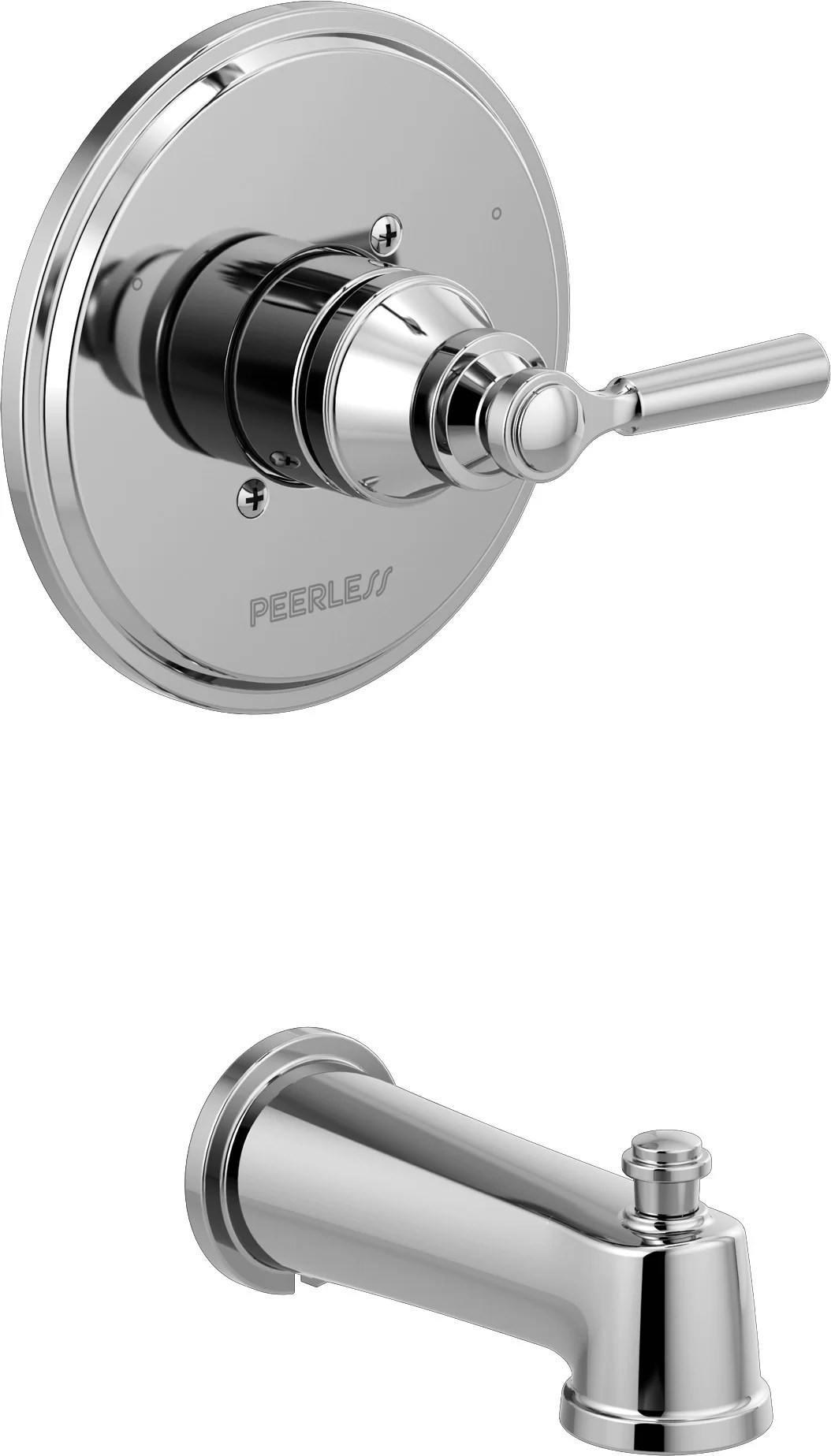 peerless faucets westchester single handle wall mounted tub spout trim with diverter wayfair
